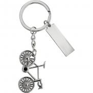 Brelok do kluczy 'rower' - srebrny
