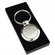 Okrągły brelok do kluczy - srebrny