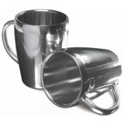 Zestaw: 2 kubki 200 ml - srebrny
