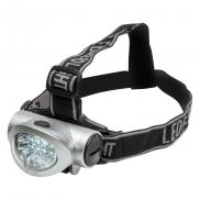 Latarka na głowę 8 LED - srebrny