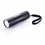 Latarka 9 LED - czarny