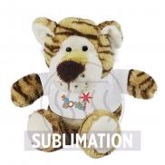 Damon, pluszowy tygrys - jasnobrązowy