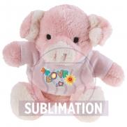 Susie, pluszowa świnka - różowy