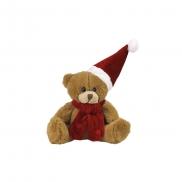 Nathan Brown, pluszowy miś świąteczny - brązowo-czerwony