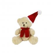 Nathan Honey, pluszowy miś świąteczny - brązowo-czerwony