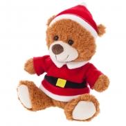 Santi, pluszowy miś świąteczny - brązowy