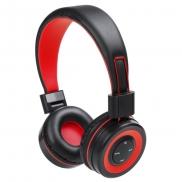 Bezprzewodowe słuchawki nauszne - czerwony