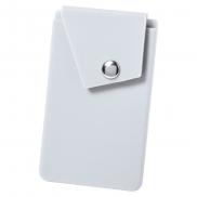 Etui na karty kredytowe, stojak na telefon - biały