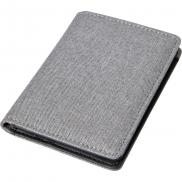 Etui na karty kredytowe, ochrona RFID - grafitowy