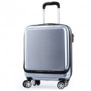 Walizka, torba na laptopa 17' - srebrny