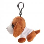 Polly, pluszowy pies, zawieszka - brązowy