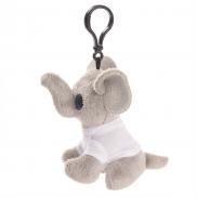 Fren, pluszowy słoń, zawieszka - szary