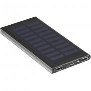 Power bank 8000 mAh, ładowarka słoneczna - czarny
