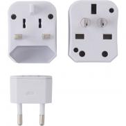 Zestaw adapterów podróżnych - biały