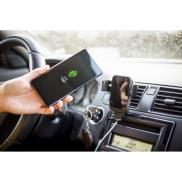 Samochodowy uchwyt do telefonu, ładowarka bezprzewodowa 10W - czarny