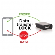 Blokada transferu danych USB - biały