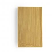 Bambusowy power bank 5000 mAh - brązowy