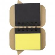 Zestaw do notatek, karteczki samoprzylepne - brązowy