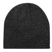 Czapka zimowa, połyskliwy materiał - czarny