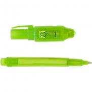 Długopis z niewidzialnym tuszem, lampka UV - jasnozielony