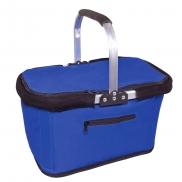 Koszyk poliestrowy, składany, torba termoizolacyjna - niebieski