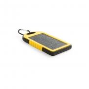 Wodoodporny power bank 4000 mAh, ładowarka słoneczna - żółty