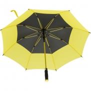 Wiatroodporny parasol manualny - żółty