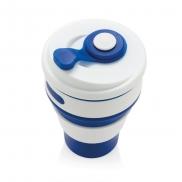 Składany kubek podróżny 350 ml - niebieski
