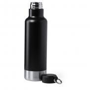 Butelka sportowa 750 ml z karabińczykiem - czarny