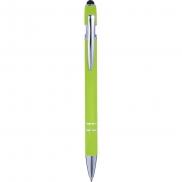 Długopis, touch pen - limonkowy