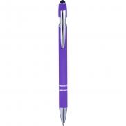 Długopis, touch pen - fioletowy