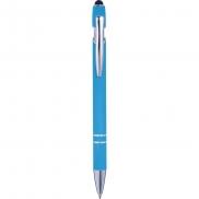 Długopis, touch pen - błękitny