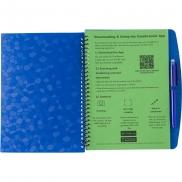 Notatnik ok. B5 z długopisem - granatowy