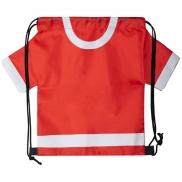 Worek ze sznurkiem 'koszulka kibica', rozmiar dziecięcy - czerwony