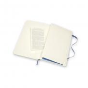 MOLESKINE Notatnik skórzany ok. A5 - niebieski
