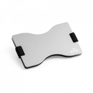MULLER. Etui na karty z systemem RFID - Satynowy srebrny