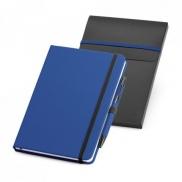 SHAW. Zestaw, notes plus długopis A5 - Szafirowy