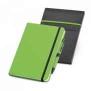 SHAW. Zestaw, notes plus długopis A5 - Jasno zielony