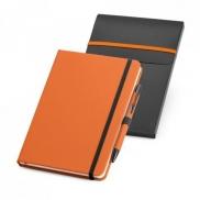 SHAW. Zestaw, notes plus długopis A5 - Pomarańczowy