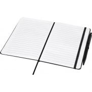 Średniej wielkości notatnik Prime z długopisem, czarny