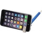 Długopis Medan z uchwytem na telefon, wykonany ze słomy pszenicznej, niebieski