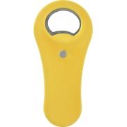 Otwieracz do butelek z magnesem Rally, żółty