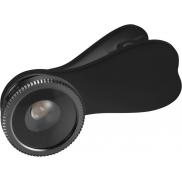 Soczewka do smartfona z klipsem Fish-eye,  czarny podstawowy