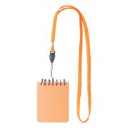 Mini notatnik na smyczy - pomarańcz