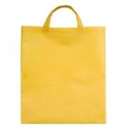 Torba na zakupy Non Woven krótkie uszy, żółty