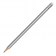 Ołówek drewniany, srebrny