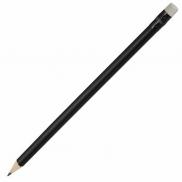 Ołówek drewniany, biały/czarny