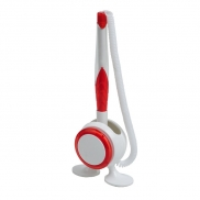 Długopis na stojaku Jot & Box, czerwony/biały