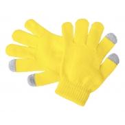 Dziecięce rękawiczki do ekranów dotykowych - żółty