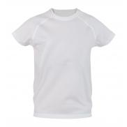 Dziecięcy T-shirt sportowy - biały